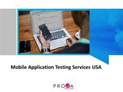 Best Mobile Application Testing Servcies for USA by Prova Solutions