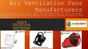 Air Ventilation Fans Manufacturers in India