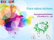 Face tattoo stickers
