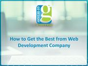 How to Get the Best from Web Development Company