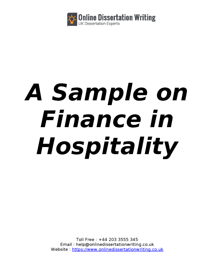 Dissertation reports on finance