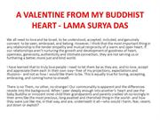A VALENTINE FROM MY BUDDHIST HEART - LAMA SURYA DAS