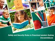 Safety and Security Rules in Preschool western Sydney