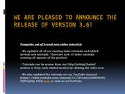 We are pleased to announce the release of