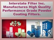 Interstate Filter Inc. Manufactures Quality Powder Coating Filters.