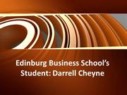 Edinburg Business School's Student Darrell Cheyne