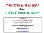 INDUSTRIAL  HAZARDS  AND SAFETY  PRECAUTIONS