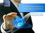 CBIS for ISO and Lean Six Sigma Consulting and Training