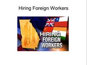 Hiring Foreign Workers-Severance lawyers