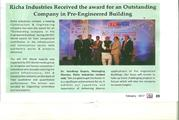Richa Industries Limited coverage in Construction Technology Today Mag