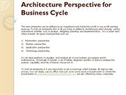 Architecture Perspective for Business Cycle