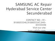 SAMSUNG AC Repair Hyderabad Service Center Secunderabad