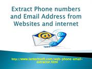 Extract Phone numbers and Email Address from Websites
