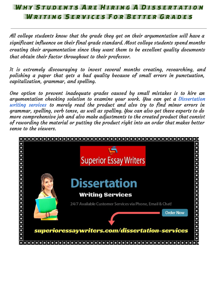 Hire dissertation writers