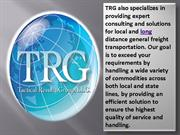 Physical distribution and logistics in USA - TRG