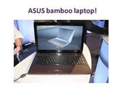 Bamboo Laptops from Asus