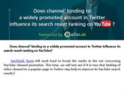 Twitter influence its search result ranking on YouTube - SeeZisLab
