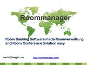 Room Booking Software made Raumverwaltung and Room Conference Solution