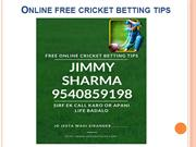 Cricket Betting Tips|Online Cricket Tips|Ipl Tips