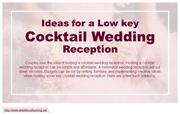 Three tips to plan a low-key wedding reception