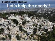 Haiti EarthQuake Help The Needy