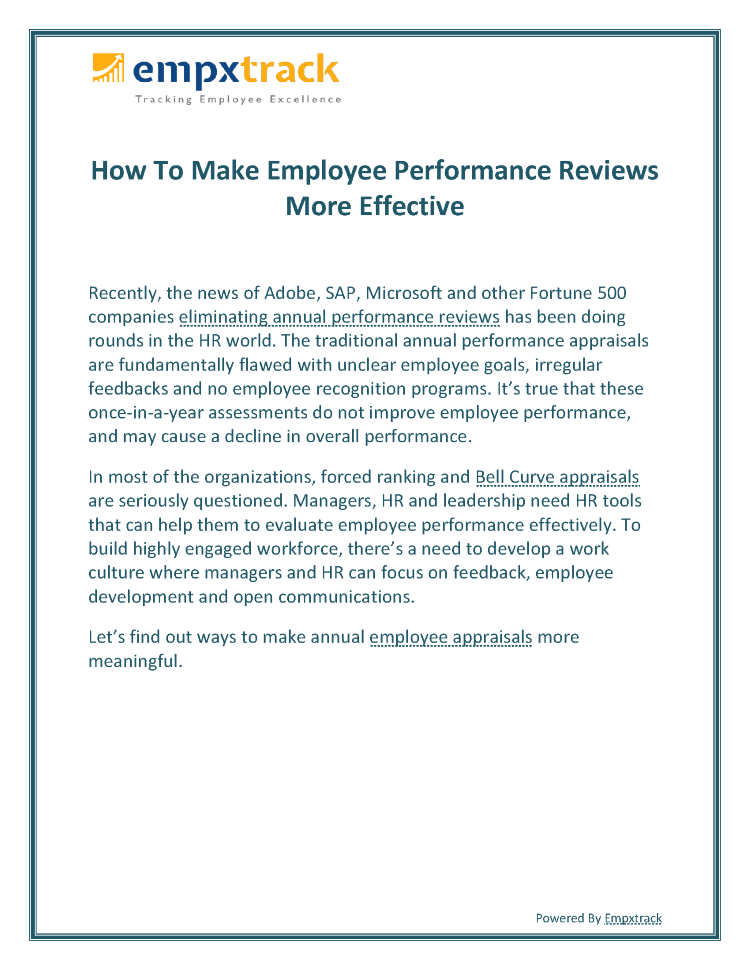 How to Make Employee Performance Reviews More Effective |authorSTREAM