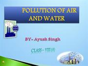 Pollution of Air and Water