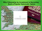 Why Citizenship by Investment is Becoming Such a Popular Diplomatic Op