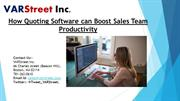 How Quoting Software can Boost Sales Team Productivity