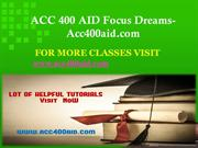 ACC 400 AID Focus Dreams-Acc400aid.com
