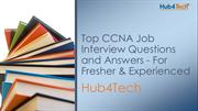 Top CCNA Job Interview Questions and Answers - For Fresher & Experienc