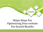 Major Steps For Optimizing Your website For Search Results