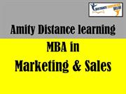Amity Distance Learning MBA in Marketing and Sales