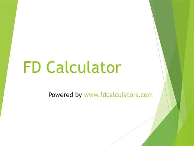 Fd maturity value calculator