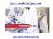 Who is the best Sports medicine Specialist in UAE