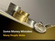 Some money mistakes many people make