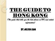 Milton's THE GUIDE TO HONG KONG