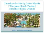 Timeshare for Sale by Owner in Orlando and Florida
