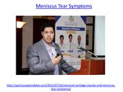 What is the meniscus tear symptoms