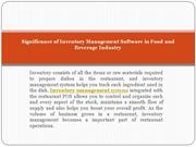 Significance of Inventory Management Software in Food and