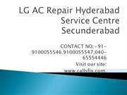 LG AC Repair Hyderabad Service Center Secunderabad