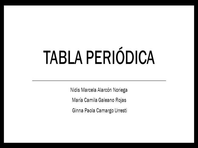 Tabla periodica authorstream tabla periodica nidisalarcon download post to urtaz Image collections
