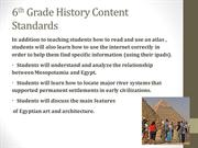 6th Grade History Content Standards
