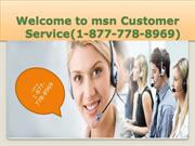 BEST MSN CUSTOMER *1-877*-778-*8969 SERVICE BY OUR SPECIALIST