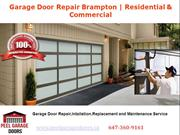 Garage Door Repair Brampton | Residential & Commercial Services