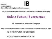 IB Economics Tutor in Gurgaon, IB Home Tutor in Gurgaon
