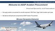 Get a quote for aviation components at ASAP Aviation Procurement.