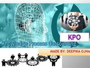 KPO - -Knowledge Process Outsourcing