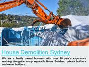 House Demolition Sydney