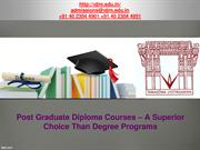 Post Graduate Diploma Courses – A Better Option Than Degree Programs